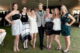 Eryn Boyce '13, second from left, with designer Austin Scarlett (center) and other interns.