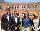 Matthew Combs '13, Ethan Ayres '13, Ashleigh Smythe and Rebecca Knipp '13