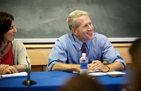 Steve Culbertson '79 in the panel discussion Social Innovation and Social Entrepreneurship  (PHOTO BY NANCY L. FORD)