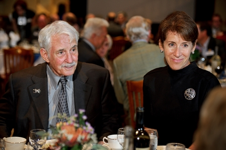Dan Dietrich II '64 and Linda Johnson '80 at the awards dinner (PHOTO BY NANCY L. FORD)