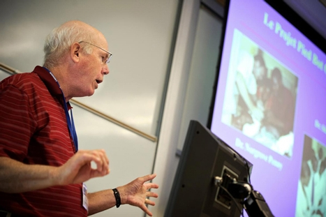 Robery Cady '67 lectures about The Haitian Clubfoot Project.
