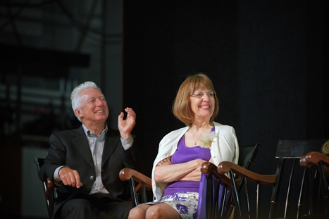 Board of Trustees Chairman A.G. Lafley '69 and President Joan Hinde Stewart
