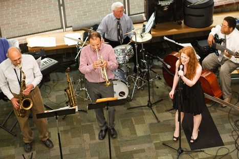 Doc Woods and friends perform during reunion weekend.