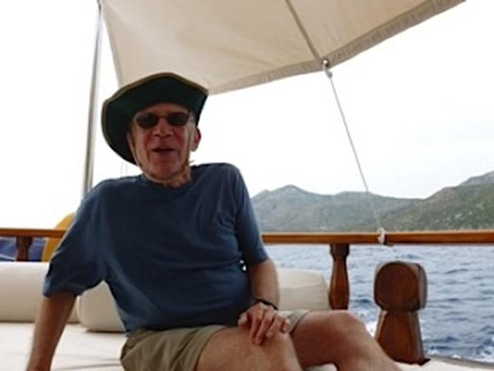 Jeff Kremen on the gulet trip (sailing ships along the Med coast)
