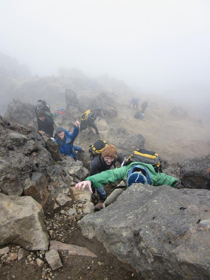 Climbing volcano Rucu Pichincha. PHOTO: BY DANI FORSHAY '11