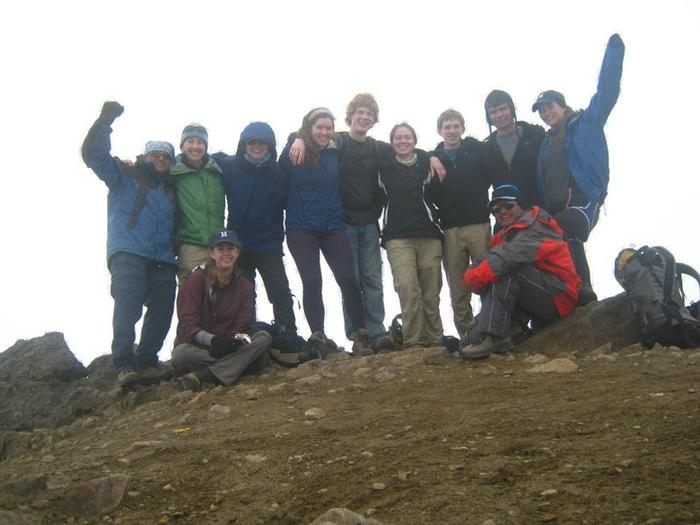Members of the Hamilton Outing Club on top of Rucu Pichincha over winter break. PHOTO: BY EDGAR RICARDO VACA VEGA