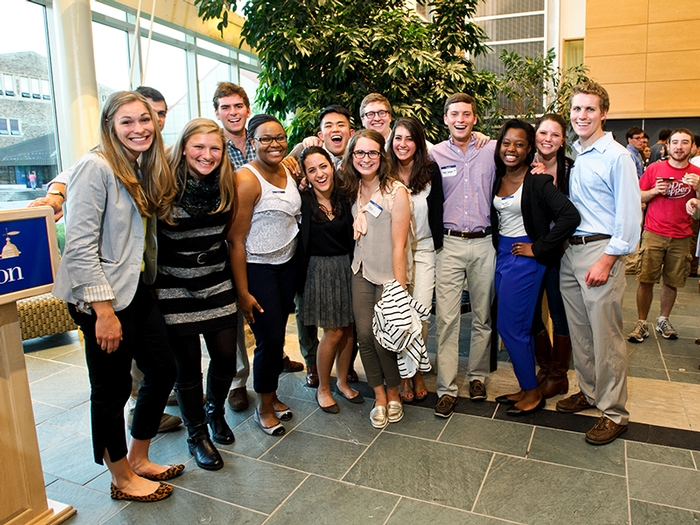 Members of the Class of 2014 Senior Gift Committee.