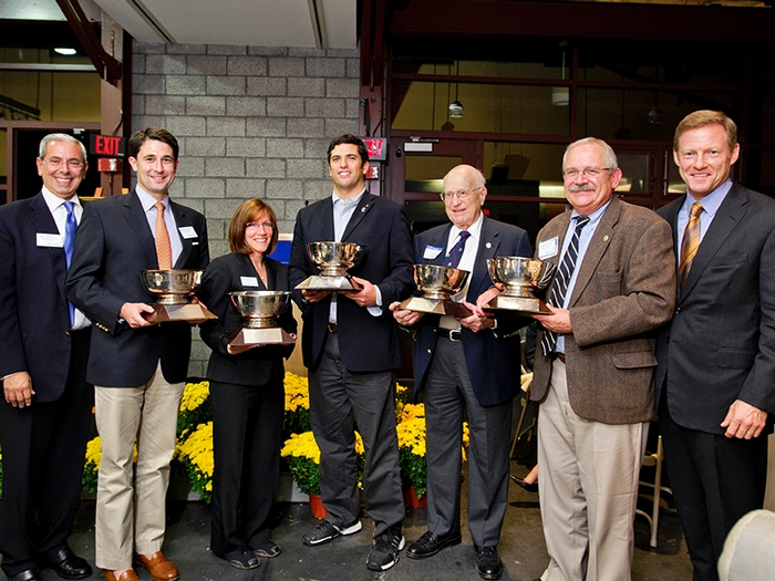 Recipients of the 2012-13 Annual Fund Performance Cup Awards.