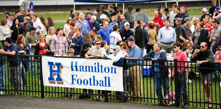 Families gather to watch Saturday's football game against Williams. (PHOTO BY NANCY L. FORD)
