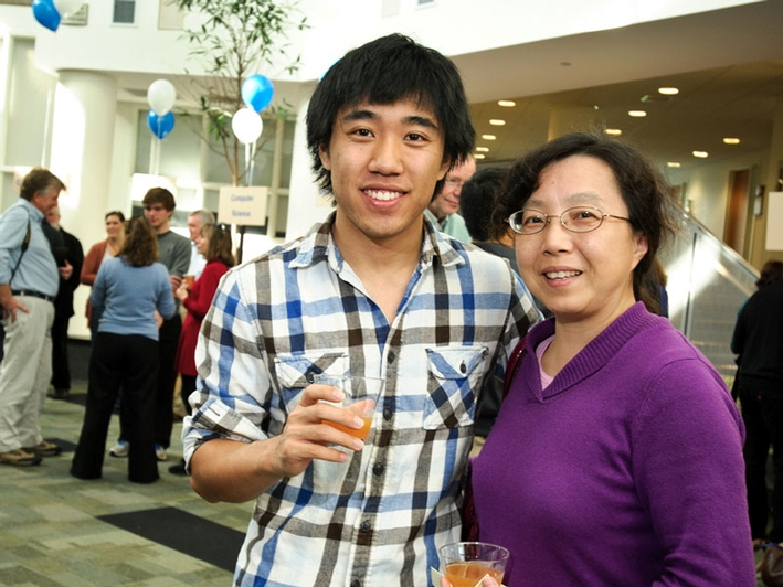 Ben Li '13 and his mom, Lily Song. (PHOTO BY NANCY L. FORD)