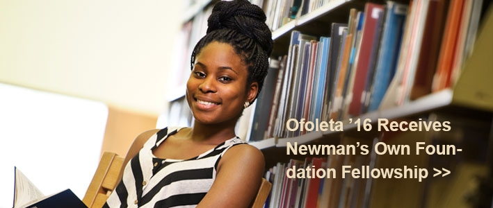 Ofoleta '16 Receives Newman's Own Foundation Fellowship