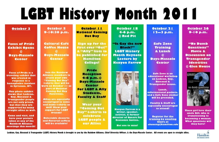 LGBT History Month 2011 Poster