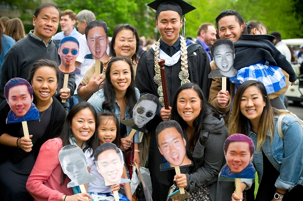 Family and friends of Ryan Ong celebrate his graduation.<br />Photo: Nancy L. Ford