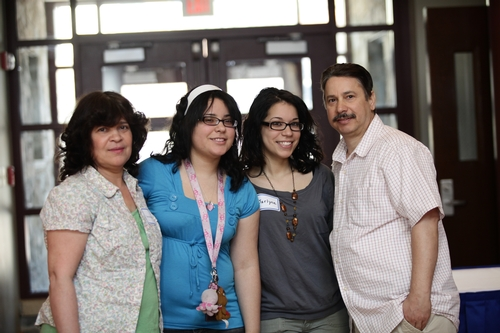 Jelissa Batista '13 and family