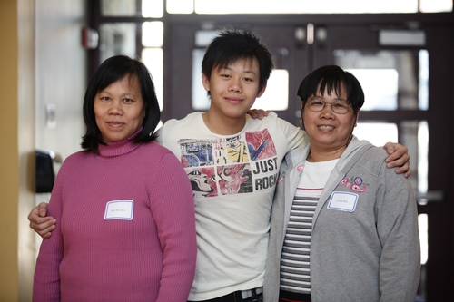 Kenny Mai '13 and family