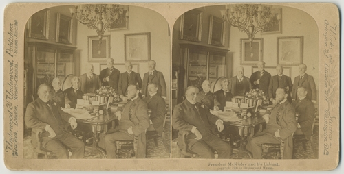 President McKinley and his Cabinet, c. 1900 - Secretary of War Elihu Root is seated at far right.