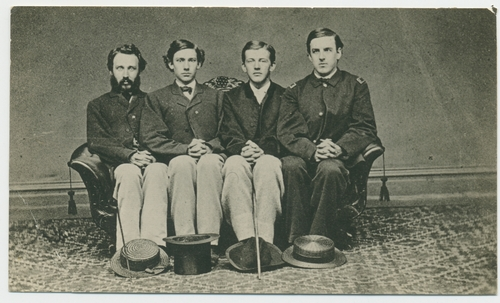 Root (second from the left) and three friends, c.1863