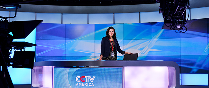 Liza Strauss '15 spent this past summer as an intern for CCTV-America in Washington, D.C.