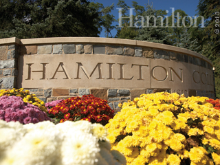 Hamilton College sign